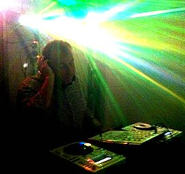 DJ Murdoch Wilson performing at a Disco in Kent for a 40th Birthday Party