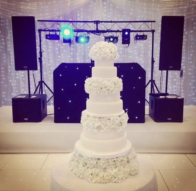 DJ Hire london set up in London at the Four Seasons Canary Wharf for a Wedding Show.