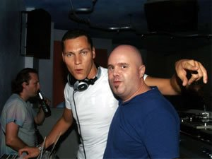 Ibiza Club DJ Lucci warming up for Club DJs Tiesto