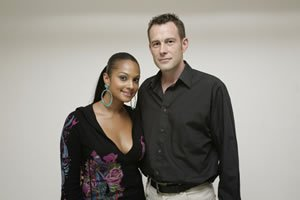X Factor Judge Alesha Dixon with DJ Jason Dupuy