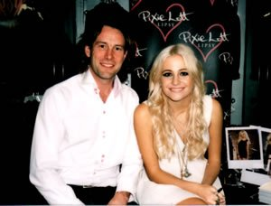 Pixie Lott with DJ Jason Dupuy performing at Promotional Event in Manchester