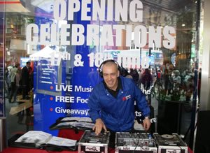 Club DJ Lawrence Anthony at a Store Launch Promotion Event in London