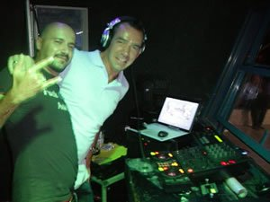 DJ Lawrence Anthony Mixing up a Dance Set in Turkey