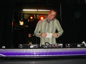 DJ Paul Doherty at a Wedding Disco in Central London
