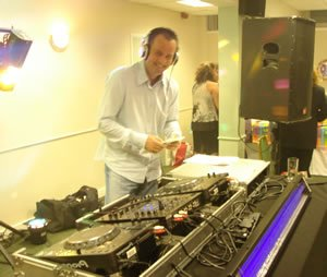 DJ Paul Doherty at a Birthday Party Disco in Surrey
