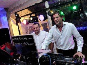London Wedding DJ Jason Dupuy plays at a Wedding Disco near Nantes, France