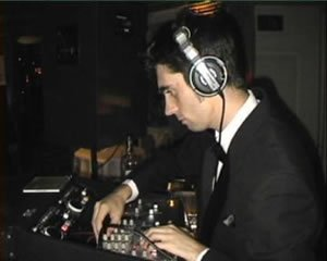 DJ Martin Evans at a Charity Event Disco in Mayfair, London