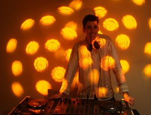 Birthday Party DJ & Disco Hire for London Area. DJ Martin Evans behind the Decks