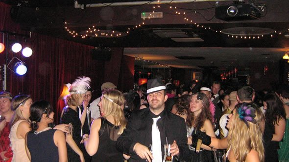 Christmas Party DJ Wayne Smooth in London performing at the B.Sky.B. Christmas Disco