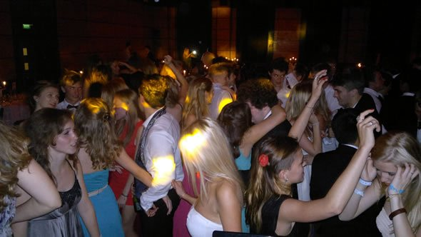 The Dance Floor with DJ Wayne Smooth on the Decks and Dulwich College Party, London