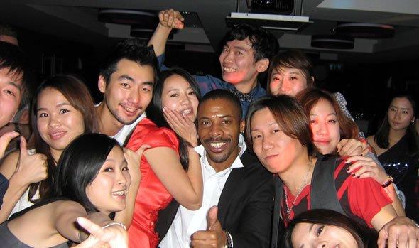 DJ Wayne Smooth at the Korean Christmas Party Disco held in Double Tree Hilton, London