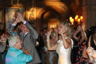 London Wedding Disco DJ Jason Dupuy on the Decks at Highclere Castle, Bucks, UK