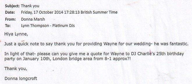 Wedding DJ Review