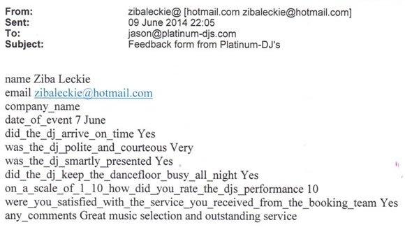 21st Birthday Party DJ Disco Hire Surrey - Platinum DJs - DJ Wayne Smooth