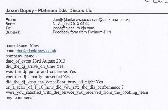 Birthday Party DJ and Disco Hire Berks - DJ Lawrence Anthony 130810