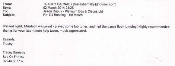 Birthday Party DJ and Disco Hire Bromley Kent - DJ Murdoch Wilson