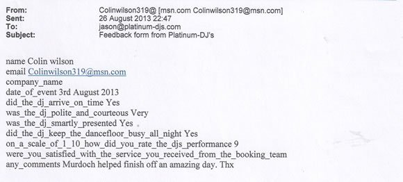 Birthday Party DJ and Disco Hire London - Murdoch Wilson 130803