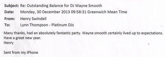 Christmas Party Corporate DJ and Disco Hire London - DJ Wayne Smooth 131230