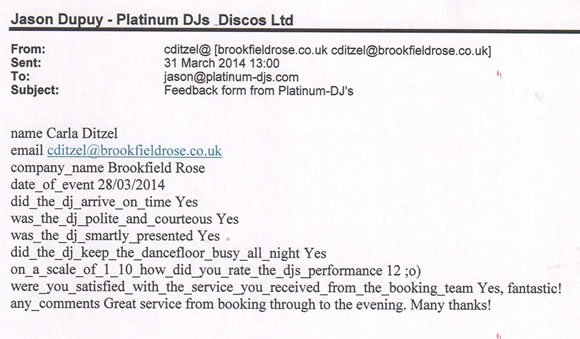 Corporate Event DJ Disco Hire Mayfair London - DJ Wayne Smooth 140328