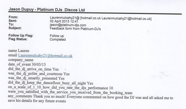 DJ Disco Hire Reviews - 21 Birthday Party - London - DJ Lawrence Anthony