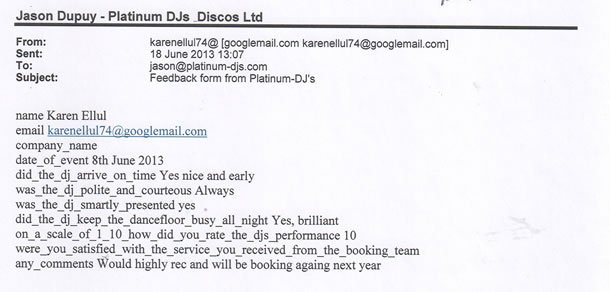 DJ Disco Review - 40 Birthday Party - London - DJ Murdoch Wilson