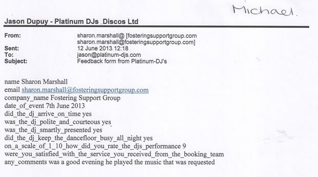 DJ Disco Review - Charity Event London - DJ Michael Davis