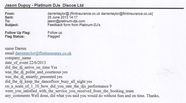 DJ Disco Review - Corporate Event - Surrey - DJ Murdoch Wilson