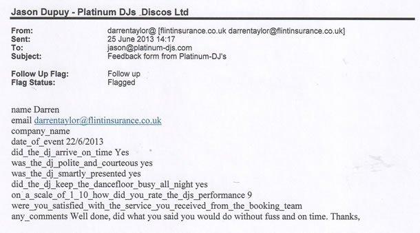 DJ Disco Review - Corporate Event - Surrey - DJ Murdoch Wilson