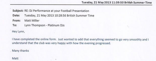 DJ Disco Review - Football Club Awards Disco - Bromley Kent - DJ Michael Davis