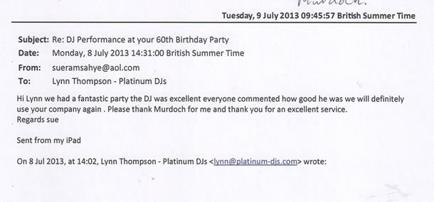 DJ Disco Review - Mauritian Birthday Party - Essex - DJ Murdoch Wilson