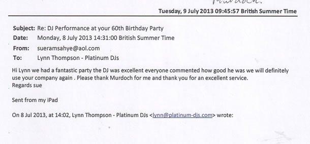 DJ Disco Review - Mauritian Birthday Party - Essex - DJ Murdoch Wilson