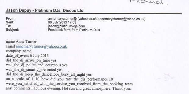 DJ Disco Review - Wedding Disco London - DJ Michael Davis