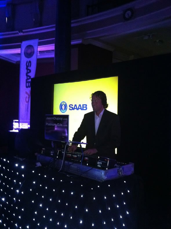 DJ Jason Dupuy playing Lounge Music at Saab's 75th Birthday Party in London