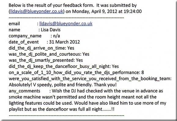 DJ Michael Davis, Wedding, London, 310312
