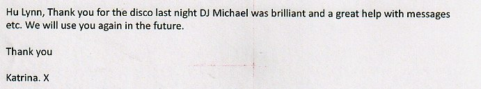 Review from Katrina for Birthday Party with DJ Michael Davis