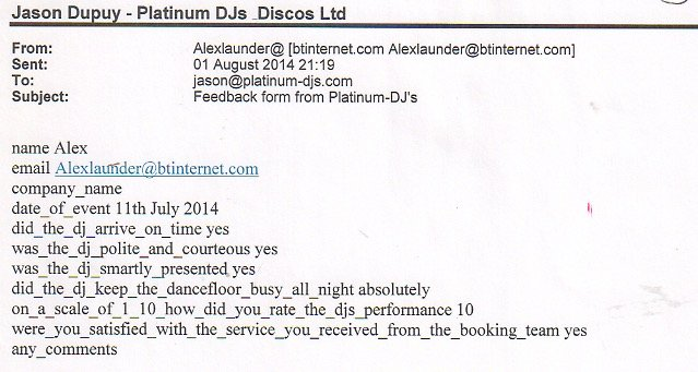 DJ Review for Private Party
