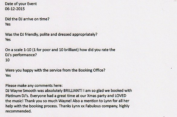Review for Party DJ Wayne Smooth in London