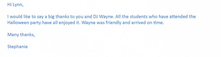 Great performance at a halloween party by London DJ Wayne.