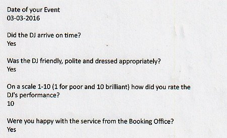 DJ Wayne Smooth good review at the Grange Hotel in London