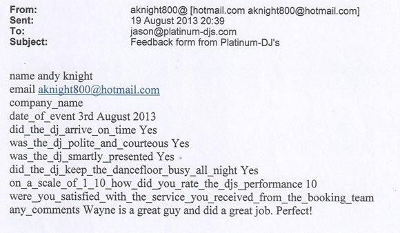 Jamaican English Wedding DJ and Disco Hire London - DJ Wayne Smooth 130803