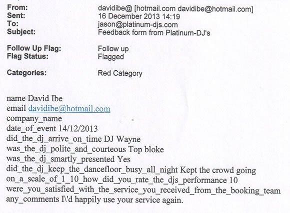 Jamaican English Wedding DJ and Disco Hire London - DJ Wayne Smooth 131214