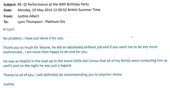 Party DJ Disco Hire London for 40 Birthday Party - DJ Wayne Smooth