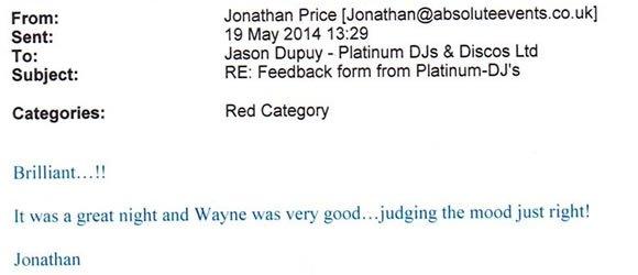 Party DJ Disco Hire West London for 40 Birthday Party - DJ Wayne Smooth