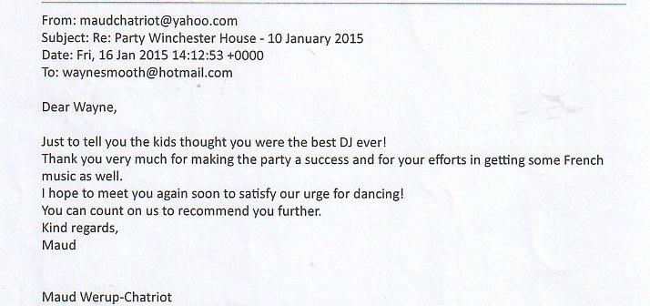 Party Winchester House DJ Wayne