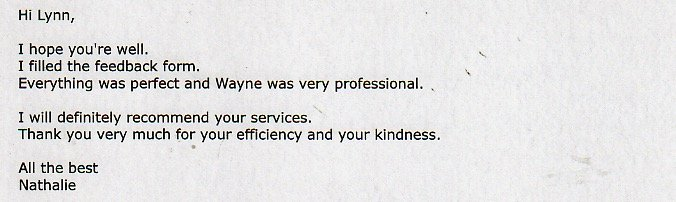 Feedback form for DJ Wayne Smooth's professional performance.