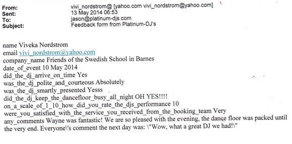 Prom DJ Disco Hire London - DJ Wayne Smooth - Platinum DJs