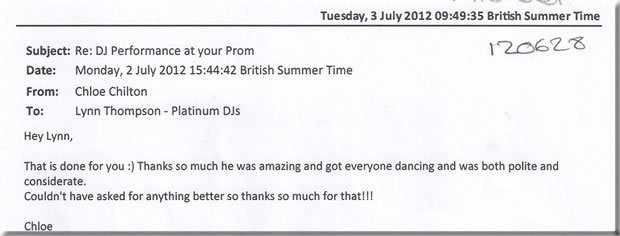 Prom London DJ & Disco - DJ Michael Davis 120628