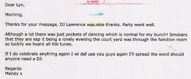 Review DJ Lawrence Mandy