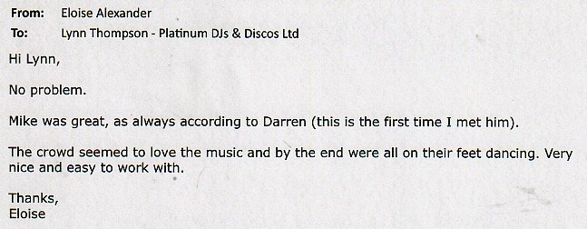 DJ Michael Davis Review for a Corporate Christmas Event.
