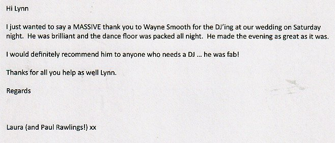 Review for a Wedding with DJ Wayne Smooth